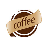 Abstract vector logo imprint coffee
