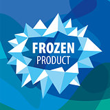Abstract vector logo of the crystals for the frozen products