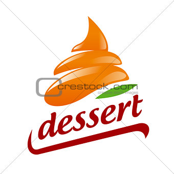 Abstract vector logo Orange Cream