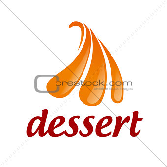 Abstract vector logo orange ice cream