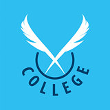 Abstract vector logo pens for college