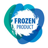 Blue vector logo for frozen products