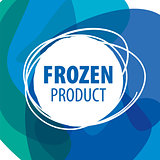 Round abstract vector logo for frozen products