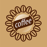 Round vector logo coffee beans