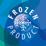 Round vector logo for frozen products
