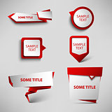 Collection red web pointers design template