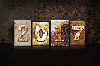 2017 Letterpress Concept on Dark Background