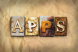Apps Concept Rusted Metal Type