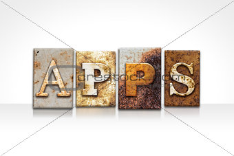 Apps Letterpress Concept Isolated on White