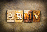 Army Concept Letterpress Leather Theme