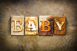 Baby Concept Letterpress Leather Theme