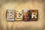 Beer Concept Rusted Metal Type