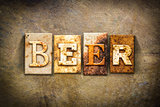 Beer Concept Letterpress Leather Theme