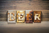 Beer Concept Letterpress Theme