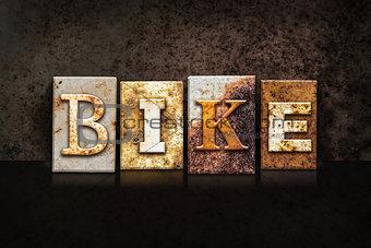 Bike Letterpress Concept on Dark Background