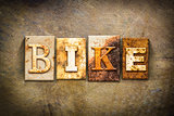 Bike Concept Letterpress Leather Theme