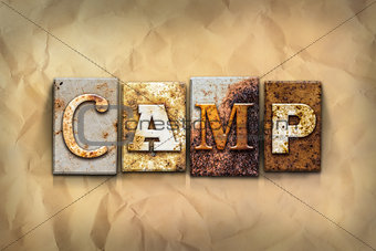 Camp Concept Rusted Metal Type