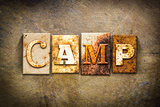 Camp Concept Letterpress Leather Theme