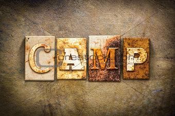 Camp Concept Letterpress Leather Theme