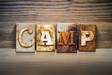 Camp Concept Letterpress Theme