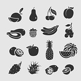 Symbol Set Vector Fruit