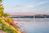 Missouri River and bridge at Hermann