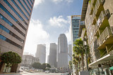 Downtown of Los Angeles, California USA in sunny morning.