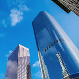 Modern office building in down town of Los Angeles. Business background