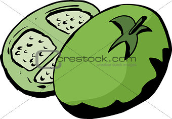 Sliced Green Tomato