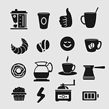 Symbol Set Vector Coffee