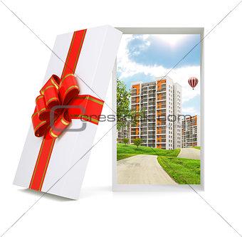 Cityscape in gift box