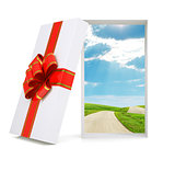 Landscape in gift box