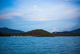 Beautiful landscape with island and sea