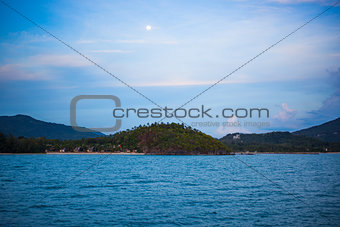 Beautiful landscape with island and sea