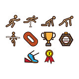 Running icon set