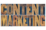 content marketing word abstract