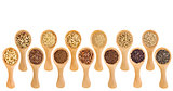 gluten free grains and seeds  - spoon abstract