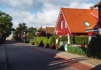 Central promenade of Nida