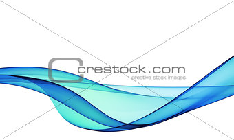 abstract blue, line, wave, fabric isolated on white background