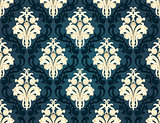 Colorful  seamless damask
