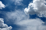 Beautiful rainclouds in the blue sky at Chiangmai city, Northern