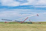 grain conveyors in agriculture landscape