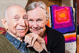 Smiling Happy Elderly Couple