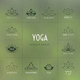 Set of logos for a yoga studio
