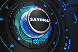 Savings Controller on Black Control Console.