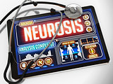 Neurosis on the Display of Medical Tablet.