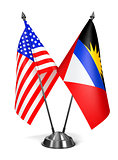 USA, Antigua and Barbuda - Miniature Flags.