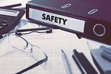 Office folder with inscription Safety.