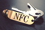 NFC written on Golden Keyring.