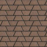 Brown Paving Slabs in the Form Trapezoids.